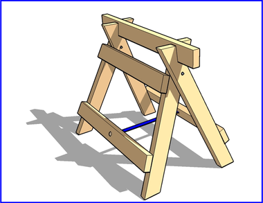 Folding Sawhorse Plans